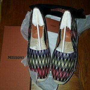 New Missoni Nero multicolored flat shoes size 40